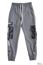 Штаны спортивные серого цвета для мальчика A-yugi Jeans