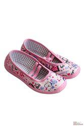 Тапки розового цвета в сердечки для девочки Nazo