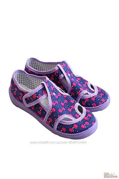 Тапки фиолетового цвета в бантики для девочки Nazo