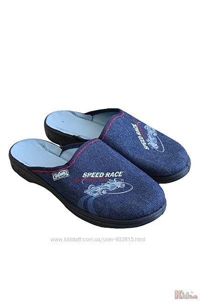 Тапочки темные без задника Speed Race Befado