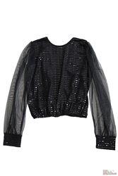 Блуза с блестками и открытой спинкой для девочки Marions