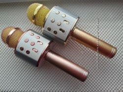 Беспроводной караоке микрофон колонка Bluetooth с динамиком.  WS-858