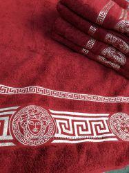 махровые полотенца Версаче качественные, плотные, 100 процентов хлопок