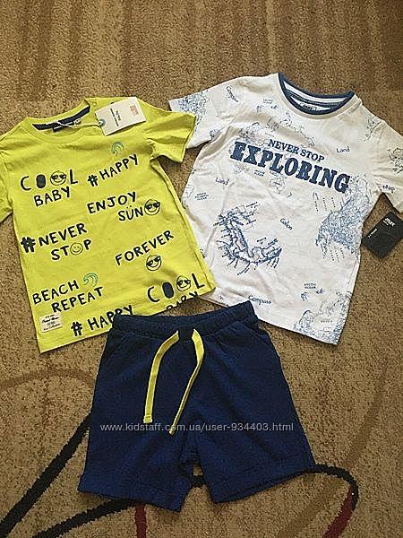 Комплект 2 футболки и шорты на 3 года