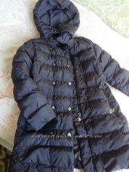 Зимнее пальто, пуховик на холофайбере на девочку 7-9 лет
