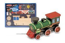 Melissa and Doug Творческий набор Укрась свой собственный деревянный поезд