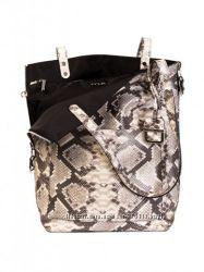Итальянская двусторонняя кожаная сумка-шоппер