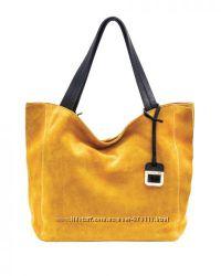 Итальянская замшевая сумка-шоппер
