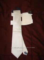 Галстук шелковый с платком M&S