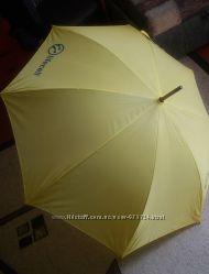 Зонт-трость. Яркий. Желтый