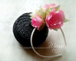 Ободок с великолепными розами