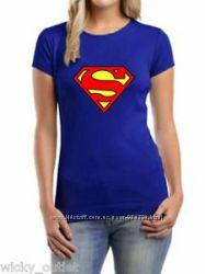Футболочка для супер-девочки размер S-XS
