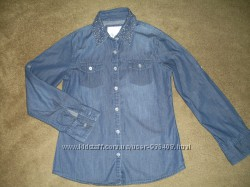 Джинсовая рубашка для девочки