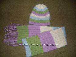 Комплект шапочка шарфик для девочки