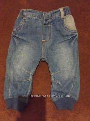 Штанишки-джинсы на девочку 6мес на подкладке