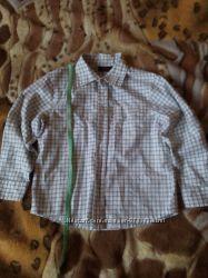 Рубашка с рукавом next на мальчика 5лет, рост 116