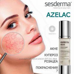 SesDerma AZELAC Moisturizing gel гель для кожи с акне, куперозом, розацеа