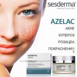 SesDerma AZELAC Moisturizing Cream устранение акне, купероза, розацеа