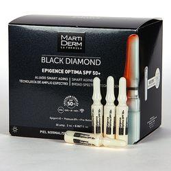 MartiDerm BLACK DIAMOND Epigence Optima SPF 50 высокотехнологичные ампулы