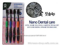 Зубные щетки Nano Dental Care с бамбуковым углем