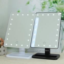 Настольное косметическое зеркало с лед подсветкой