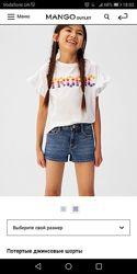 Детские джинсовые шорты Mango 116-122