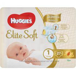 Подгузники Huggies Elite Soft 1 3 - 5 кг 27 шт