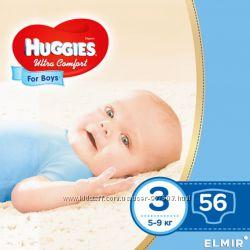 Подгузники Huggies Ultra Comfort 3 для мальчиков 56 шт.