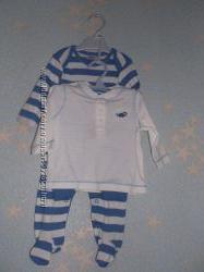 Набор F&F. Человечек, кофта, штаники на новорожденного