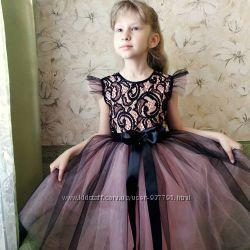 Элегантное платье на выпускной на 6-8 лет
