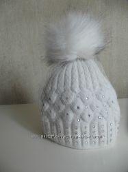 шапка для девочки со стразами сваровски