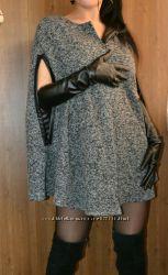 Очень стильное пальто-кейп, р. XS, S-M, M-L