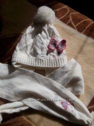Зимние шапочки на девочку до 2-2, 5 лет