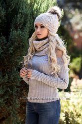 Модный и стильный вязаный женский комплект. Разные цвета