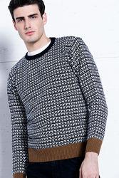 Мужской свитер pedro del hierro джемпер полувер 2xl- наш 56-58 шерсть