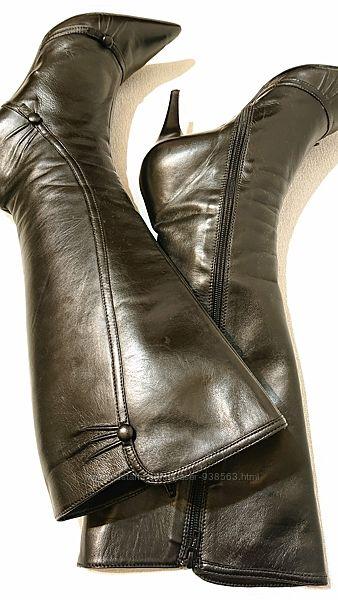 Женские кожаные демисезонные сапоги minelli 40 р деми сапоги кожа