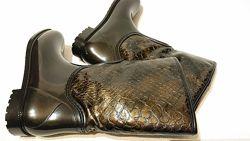 Женские резиновые сапоги 40р утепленные ботинки