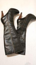 Женские кожаные деми сапоги welfare w&f 40 р демисезон утепленные кожа