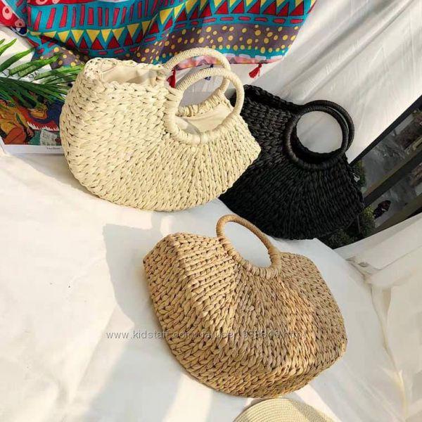 Exclusiv Trend Пляжная Сумка соломенная летняя плетеная сумки соломенные