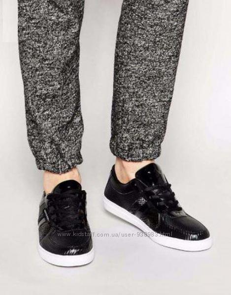 Черные кожаные мужские кроссовки  кеды recreative recreation, размер 43