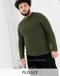 Вязаный зеленый джемпер Asos с круглым вырезом , вязаный свитер Asos, кофта