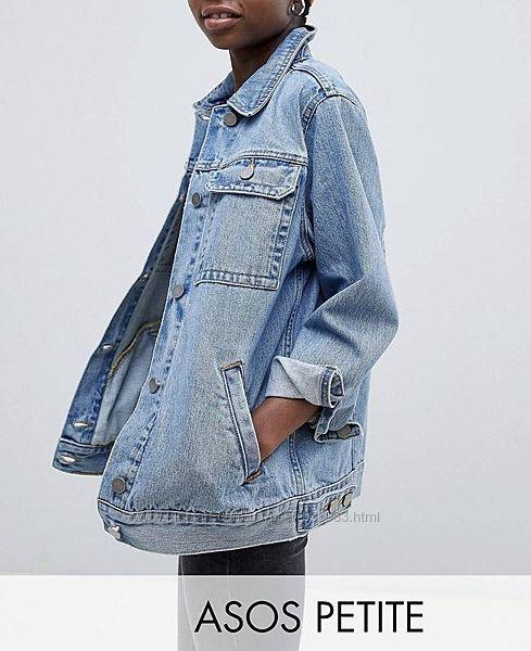 Пиджак винтажная выбеленная с потертостями джинсовая куртка оверсайз asos