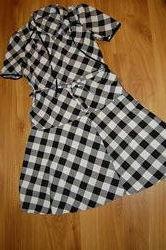 Платье в клетку, размер -  L