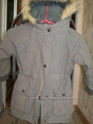Продам  парку, деми пальто на девочку, рост 104