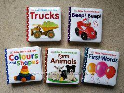 Картонные книги с тактильными вставками Baby touch and feel