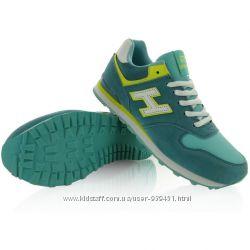 Зеленые с желтыми вставками спортивные женские кроссовки BALANCE 2552-1
