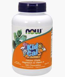 Вітаміни для дітей NOW Foods Kid Cal 100 Chewables