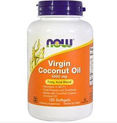 Кокосова олія NOW Foods Virgin Coconut Oil 1000 mg 120 Softgels