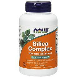 Кремнієва добавка NOW Foods Silica Complex 90 tabs