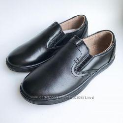 Кожаные туфли для  мальчика кожа туфли подросток Kangfu 27-32